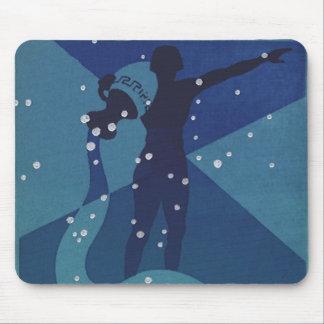 Vintage Zodiac, Astrology Aquarius Constellation Mouse Pads