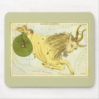 Vintage Zodiac, Astrology Capricorn Constellation Mousepad