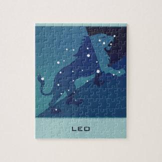 Vintage Zodiac Astrology Leo Lion Constellation Jigsaw Puzzle