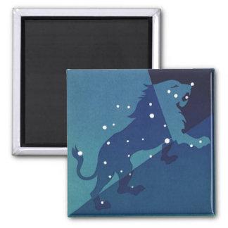 Vintage Zodiac Astrology Leo Lion Constellation Magnet