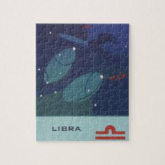 Vintage Zodiac Astrology Libra Scale Constellation Jigsaw Puzzle