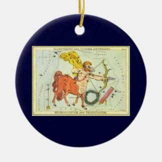 Vintage Zodiac Astrology Sagittarius Constellation Round Ceramic Decoration