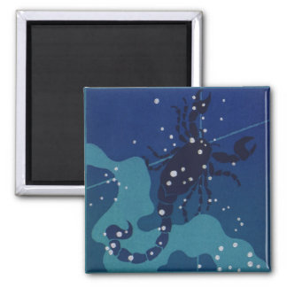 Vintage Zodiac Astrology, Scorpio Constellation Magnet