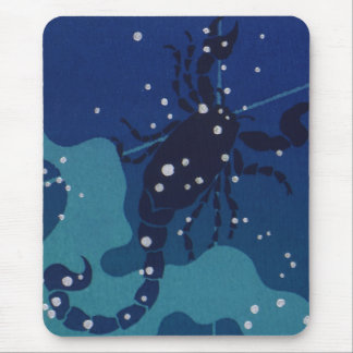 Vintage Zodiac, Astrology, Scorpio Constellation Mouse Pad