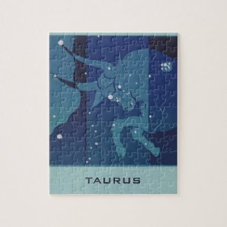 Vintage Zodiac Astrology, Taurus Constellation Jigsaw Puzzle