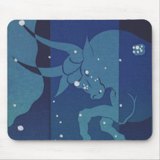 Vintage Zodiac, Astrology, Taurus Constellation Mouse Pad