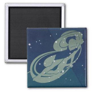 Vintage Zodiac Astrology, Virgo Constellation Magnet