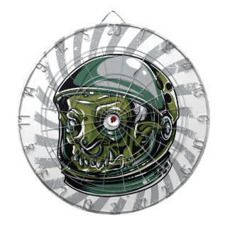 vintage zombie scary face dartboard