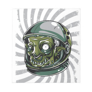 vintage zombie scary face notepad