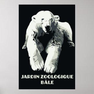 Vintage Zoo ad Basel polar bear Poster