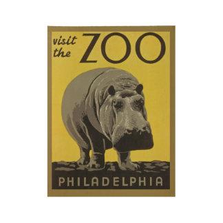 Vintage Zoo Poster
