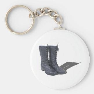 VintageBlackBoots022111 Key Ring