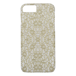 Vintaged Distressed Gold Lace iPhone 8/7 Case