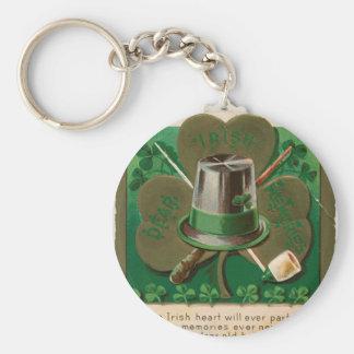 VintageSaint Patrick's day shamrock erin go bragh Key Ring
