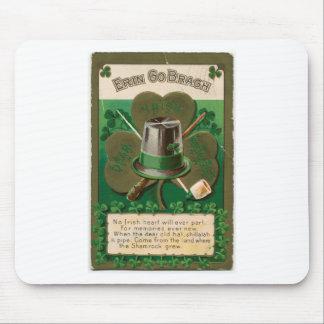 VintageSaint Patrick's day shamrock erin go bragh Mouse Pad