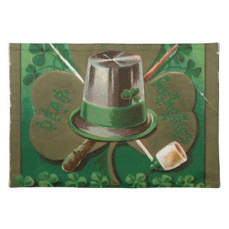 VintageSaint Patrick's day shamrock erin go bragh Placemat