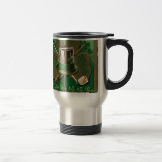 VintageSaint Patrick's day shamrock erin go bragh Travel Mug