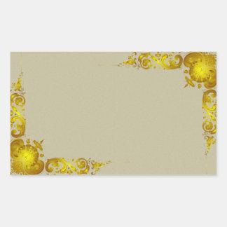 Vintgae Decorative Gold Border Sticker
