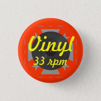 Vinyl 33 rpm 3 cm round badge