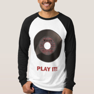 Vinyl 45 Play It! T-Shirt