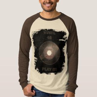 Vinyl 45 Play It! (worn) T-Shirt