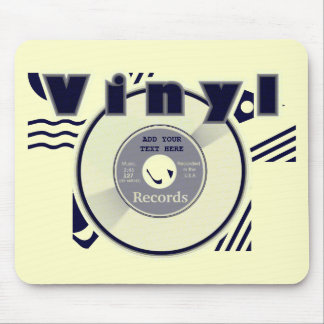 VINYL 45 Record Customize your Own Text/Year 2 Mousepads