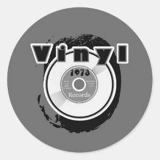 VINYL 45 RPM Record 1973 Classic Round Sticker