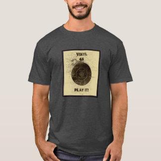 Vinyl - 45 rpm Record -Cream T-Shirt