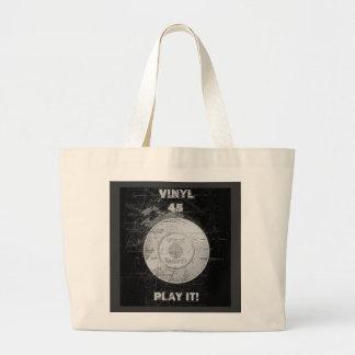 VINYL 45 RPM Record Jumbo Tote Bag