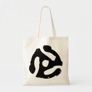 Vinyl 45 RPM Spindle Tote Bag