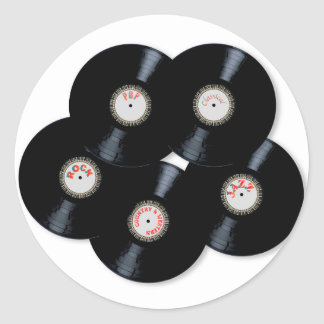 Vinyl Collection Classic Round Sticker