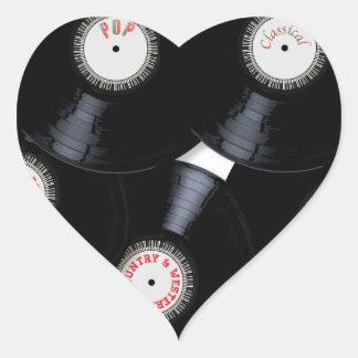 Vinyl Collection Heart Sticker