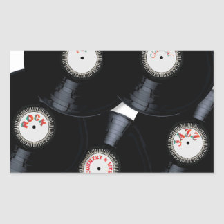 Vinyl Collection Rectangular Sticker