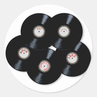 Vinyl Collection Round Sticker