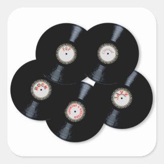 Vinyl Collection Square Sticker