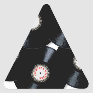 Vinyl Collection Triangle Sticker