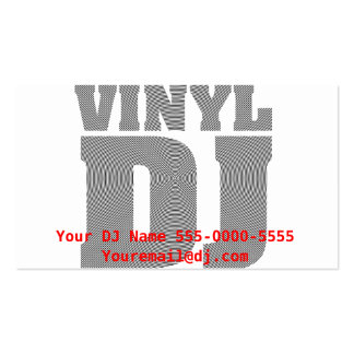 Vinyl DJ Business Card Business Card Template