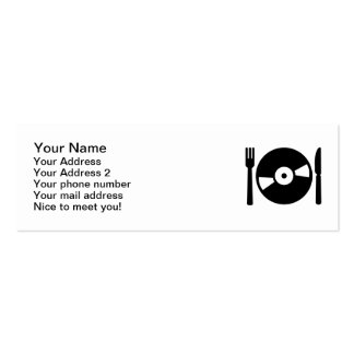 Vinyl DJ menu Business Card Template