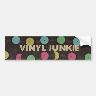 Vinyl Junkie Bumper Sticker