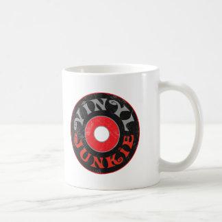 Vinyl Junkie Classic White Coffee Mug
