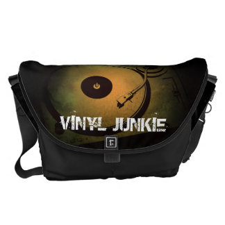 Vinyl Junkie Old Retro turn table Courier Bag