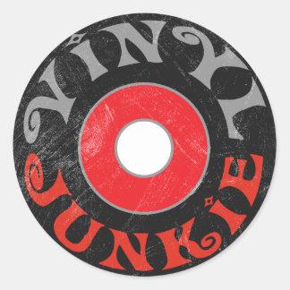 Vinyl Junkie Round Sticker