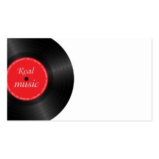 Vinyl long play disc business card template