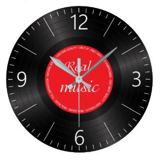 Vinyl long play disc large clock