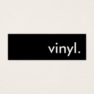 vinyl. mini business card