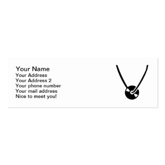 Vinyl necklace business card template