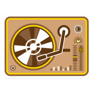 Vinyl Player vector Postcard