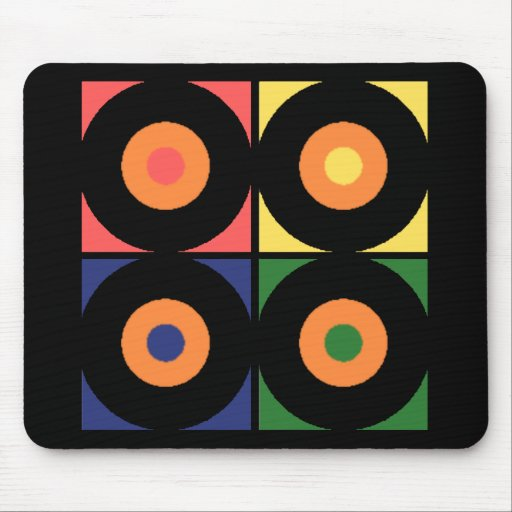 Vinyl Pop Art Mousepads