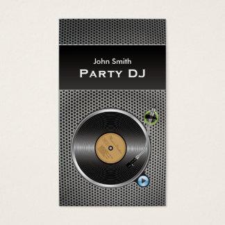 Vinyl Recoder DJ Metal Texure Business Cards