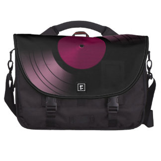 Vinyl Record Album in Pink Computer Bag